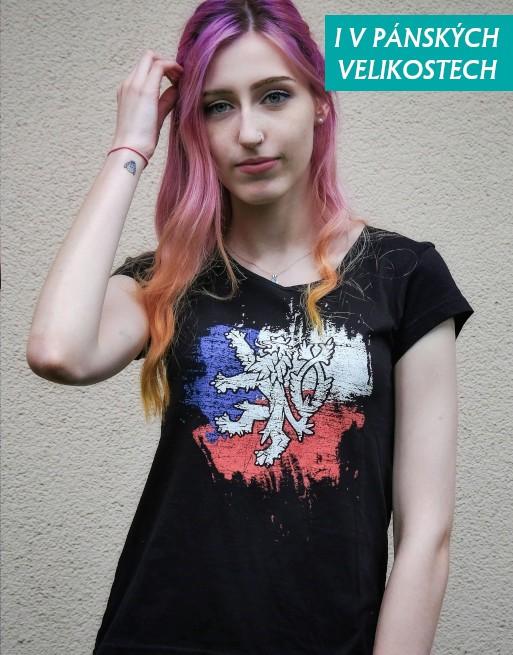 tričko český lev dámské