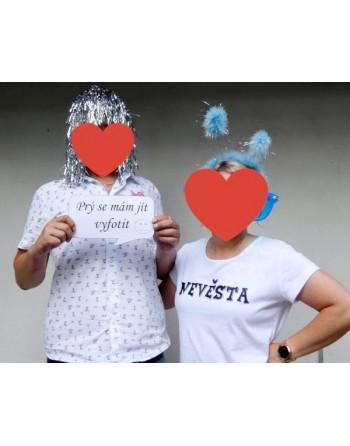 Tričko s potiskem ženich a nevěsta