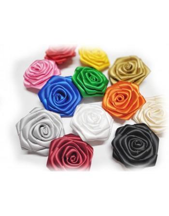 Saténová růže - lososova 70mm - 463
