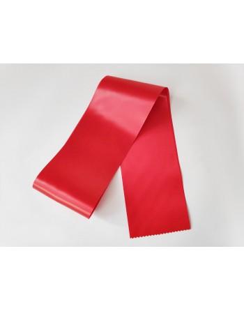 Červená saténová šerpa