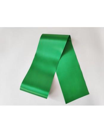 Zelená saténová šerpa