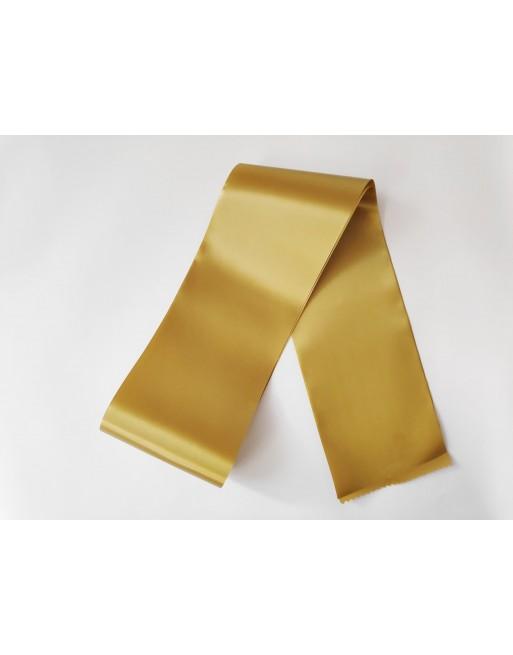 Zlatá saténová šerpa