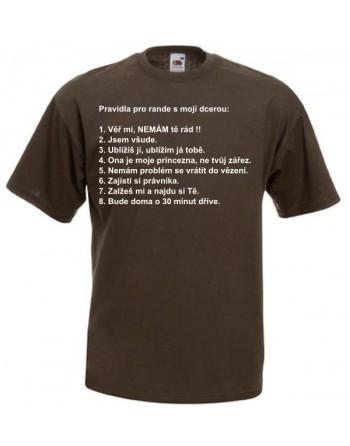 Tričko s potiskem - Pravidla pro rande s mojí dcerou