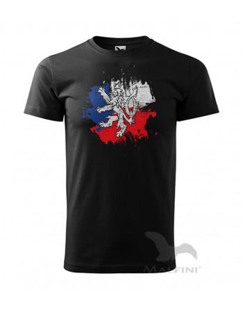 Vlastenecké tričko s potiskem Český lev
