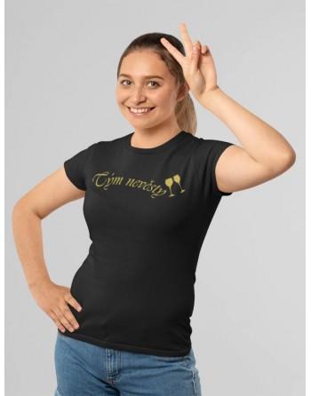 Tričko Tým nevěsty Zlatý potisk