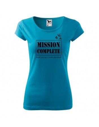 maturitní tričko dámské vypasované