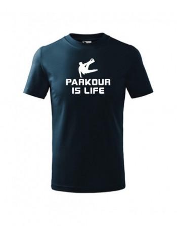 Tričko s potiskem Parkour si Life