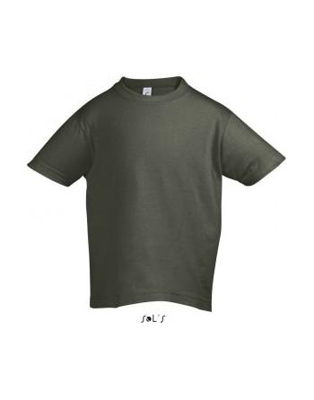 Dětská trička s potiskem pro mateřské školy khaki